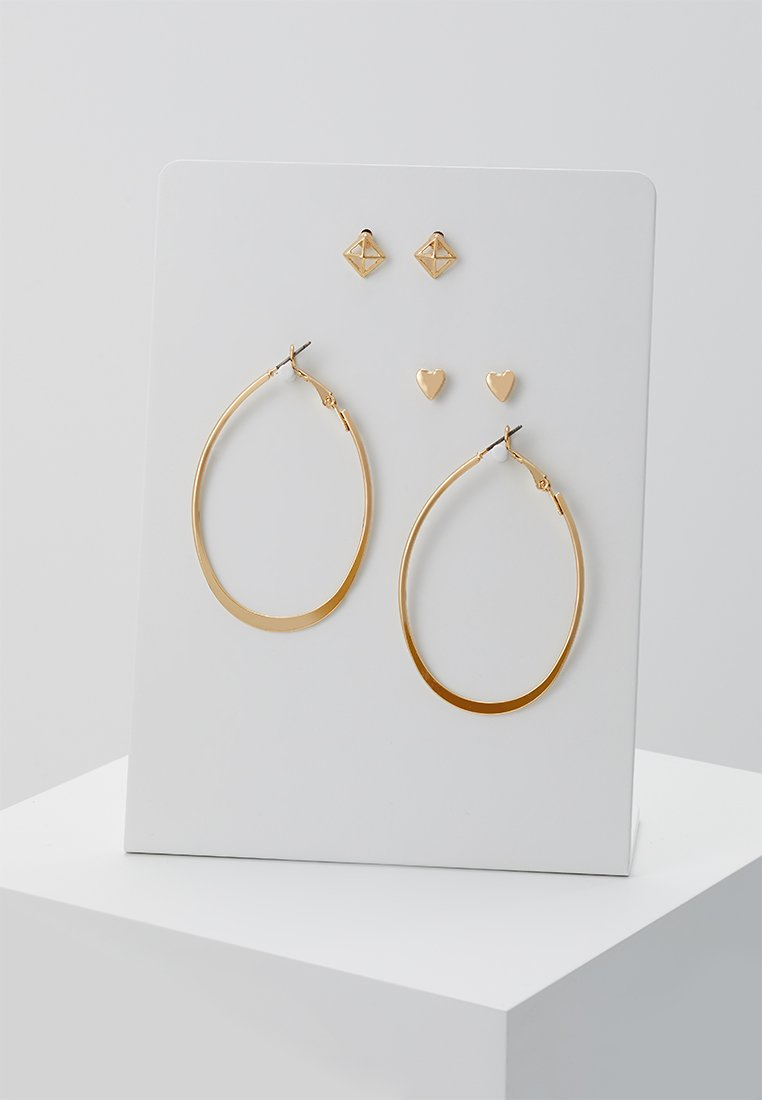 ONLY - ONLOPAL 3 PACK EARRINGS - Ohrringe - gold-coloured