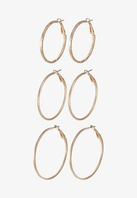 ONLY - ONLBRENDA 3 PACK CREOL EARRINGS - Earrings - gold-coloured - 3