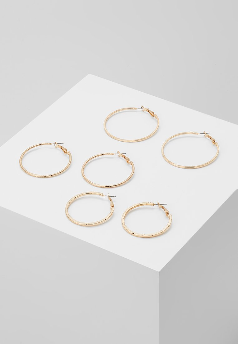 ONLY - ONLBRENDA 3 PACK CREOL EARRINGS - Earrings - gold-coloured
