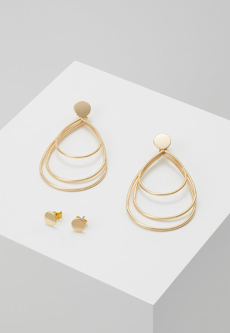 ONLY - ONLZEBRA 2 PACK EARRINGS - Pendientes - gold-coloured