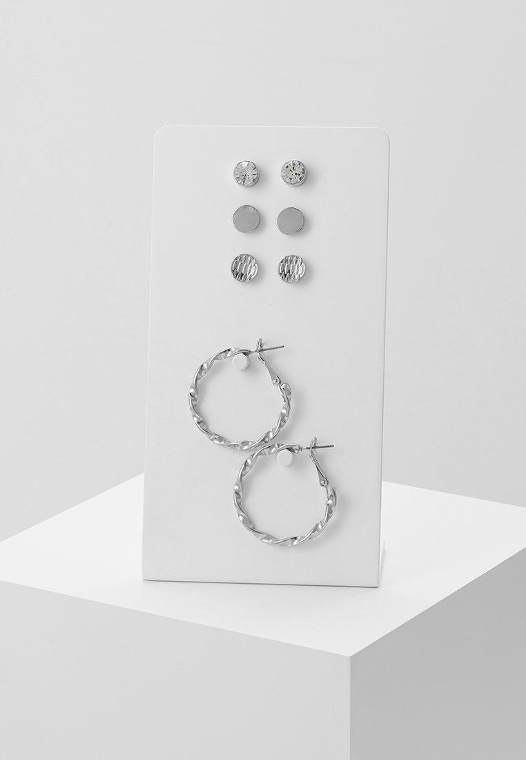 ONLY - ONLKARA EARRINGS 4 PACK - Earrings - silver-coloured