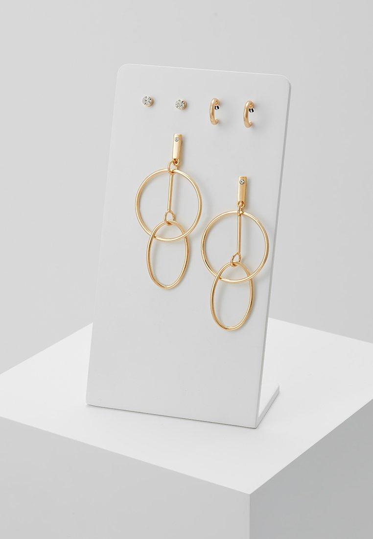 ONLY - ONLAVA EARRINGS 3 PACK - Ohrringe - gold-coloured