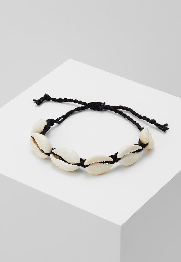 ONLY - ONLSKYLAR SHELL BRACELET - Armband - black/creme shell