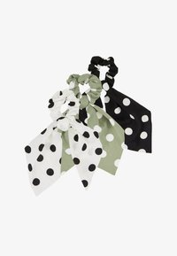 ONLY - ONLBRITT SCRUNHIES 3 PACK BOW HAIR - Hair styling accessory - black/oil - 1
