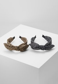 ONLY - ONLKATIE KNOTTED 2 PACK HAIRBAND - Haaraccessoire - black/black cognac - 0
