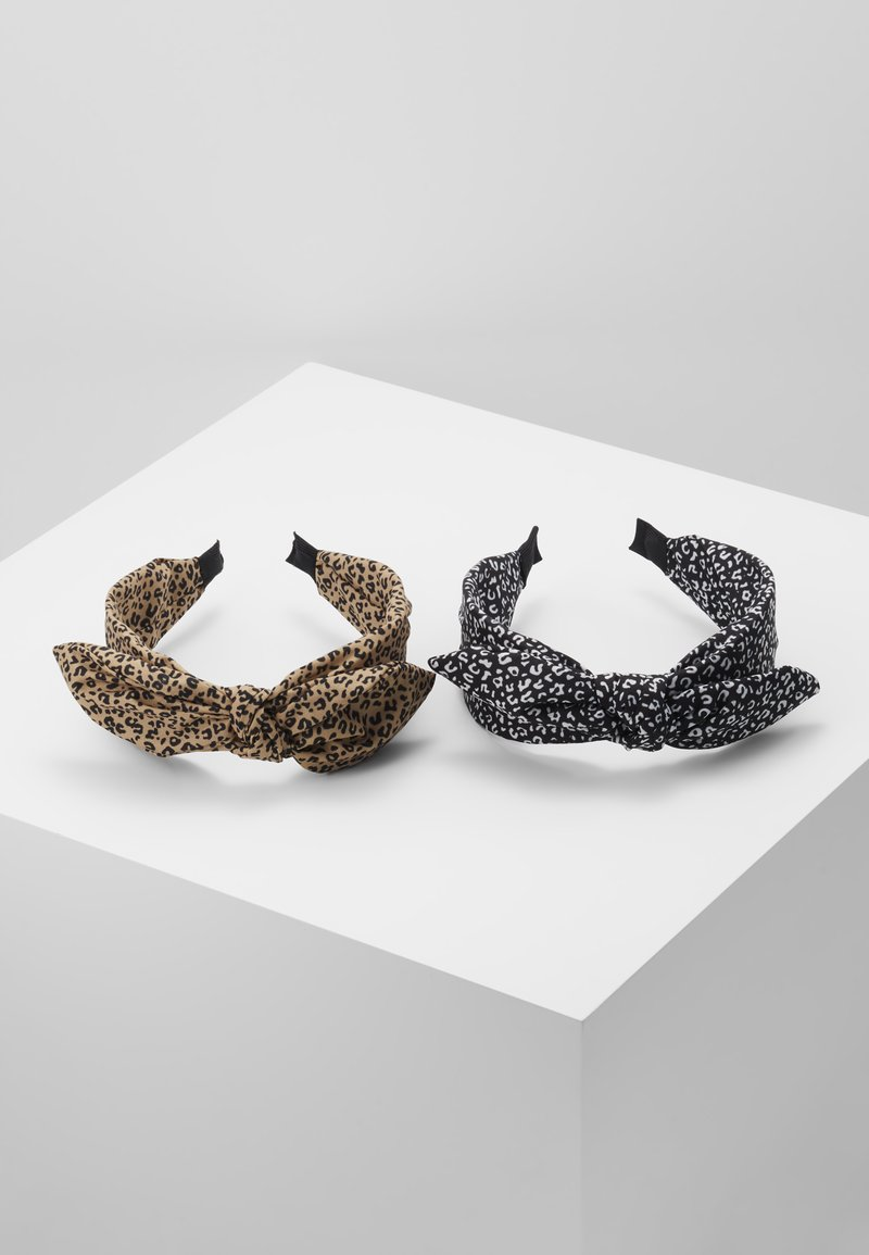 ONLY - ONLKATIE KNOTTED 2 PACK HAIRBAND - Haaraccessoire - black/black cognac