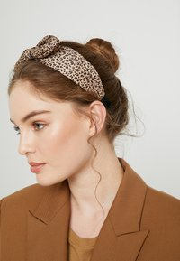 ONLY - ONLKATIE KNOTTED 2 PACK HAIRBAND - Haaraccessoire - black/black cognac - 1