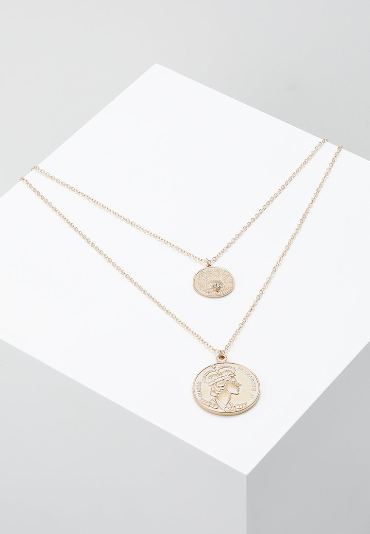 ONLY - ONLLYDIA 2 PACK COIN NECKLACE - Náhrdelník - gold-coloured