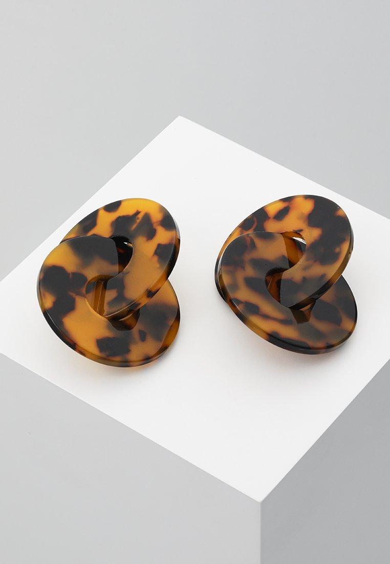 ONLY - ONLIVY EARRINGS - Earrings - brown sugar