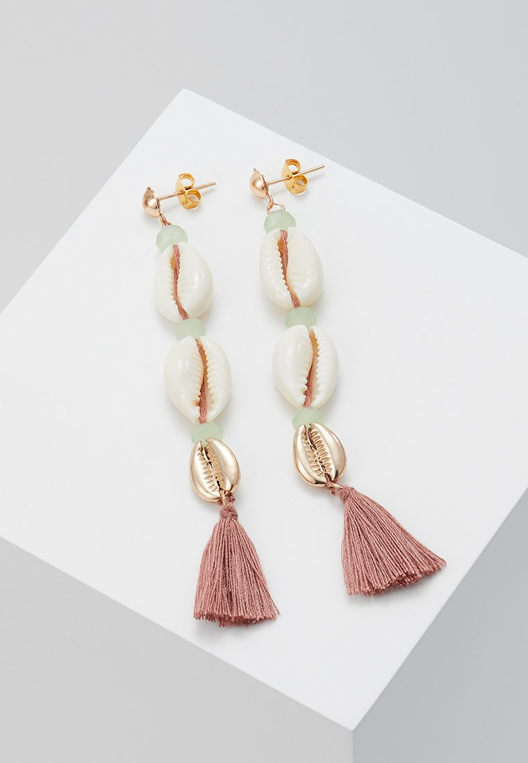 ONLY - ONLELSA EARRINGS - Ohrringe - gold-coloured/misty rose