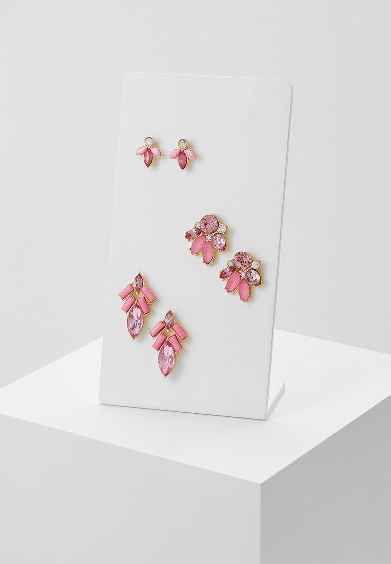 ONLY - ONLSMILLA EARRING 3 PACK - Náušnice - gold-coloured/blush/rose