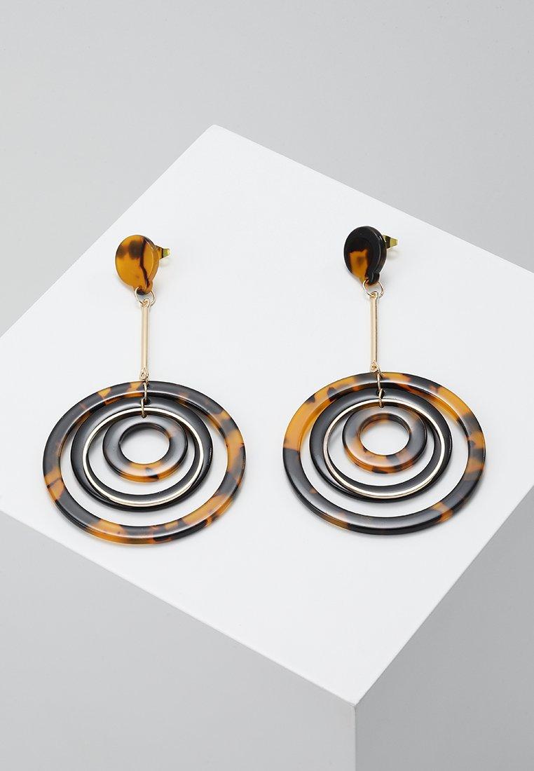 ONLY - ONLRIKA EARRING - Oorbellen - gold-coloured/brown