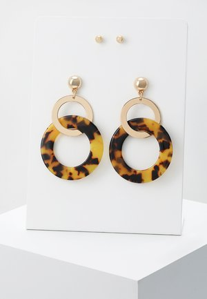 ONLTERRY EARRING 2 PACK - Náušnice - gold-coloured/brown