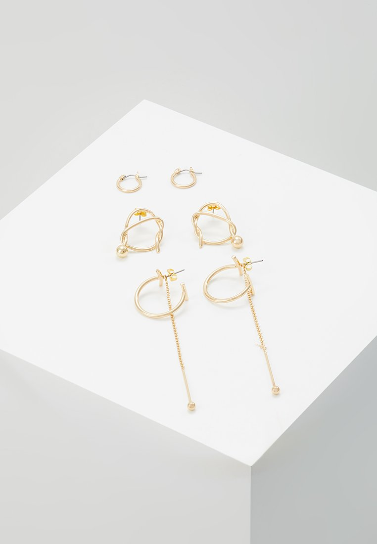 ONLY - ONLBRITT EARRING 3 PACK - Earrings - gold-coloured