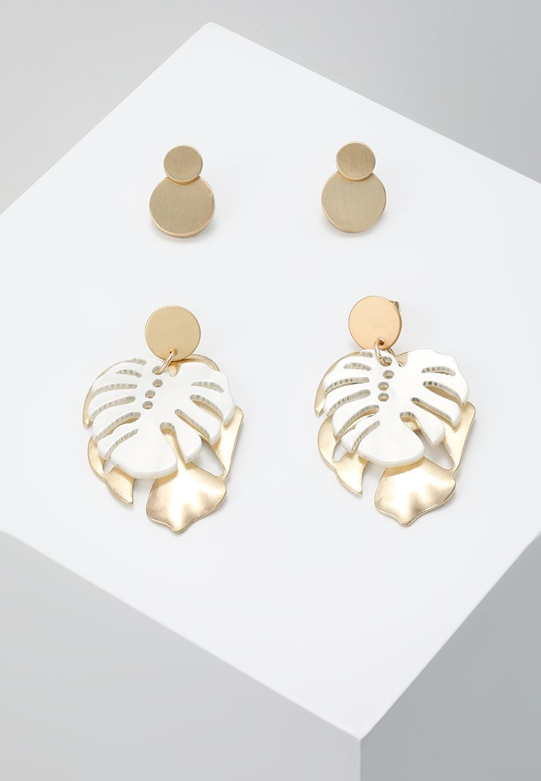 ONLY - ONLNEEL EARRING 2 PACK - Korvakorut - gold-coloured/cloude dancer
