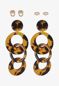 ONLY - ONLMERTIE EARRING 3 PACK - Örhänge - gold-coloured/brown - 3