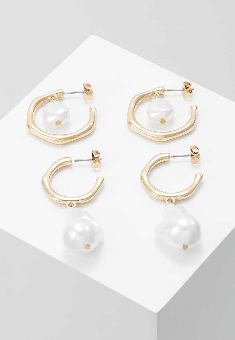 ONLY - ONLTHEA 2 PACK HOOP - Pendientes - gold-coloured