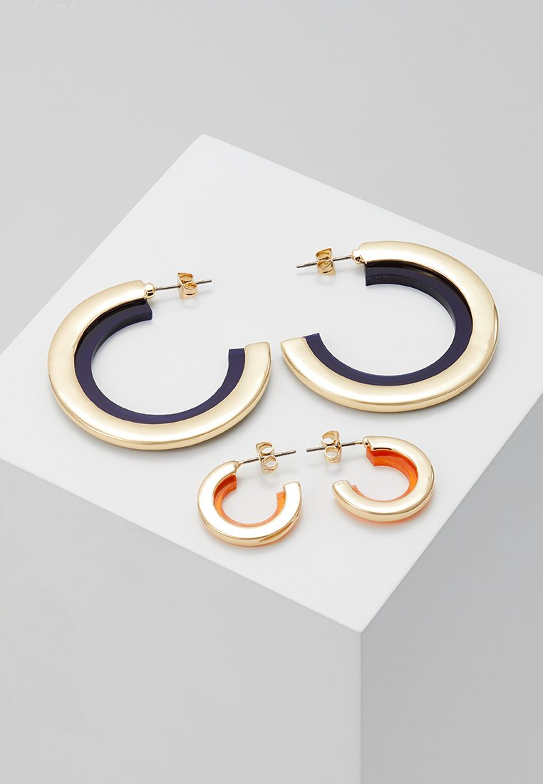 ONLY - ONLSANNIE 2 PACK HOOP - Ohrringe - gold-coloured