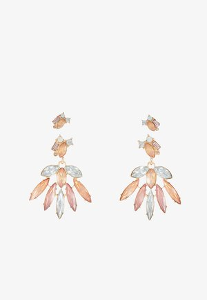 Earrings - cameo brown/blush cameo
