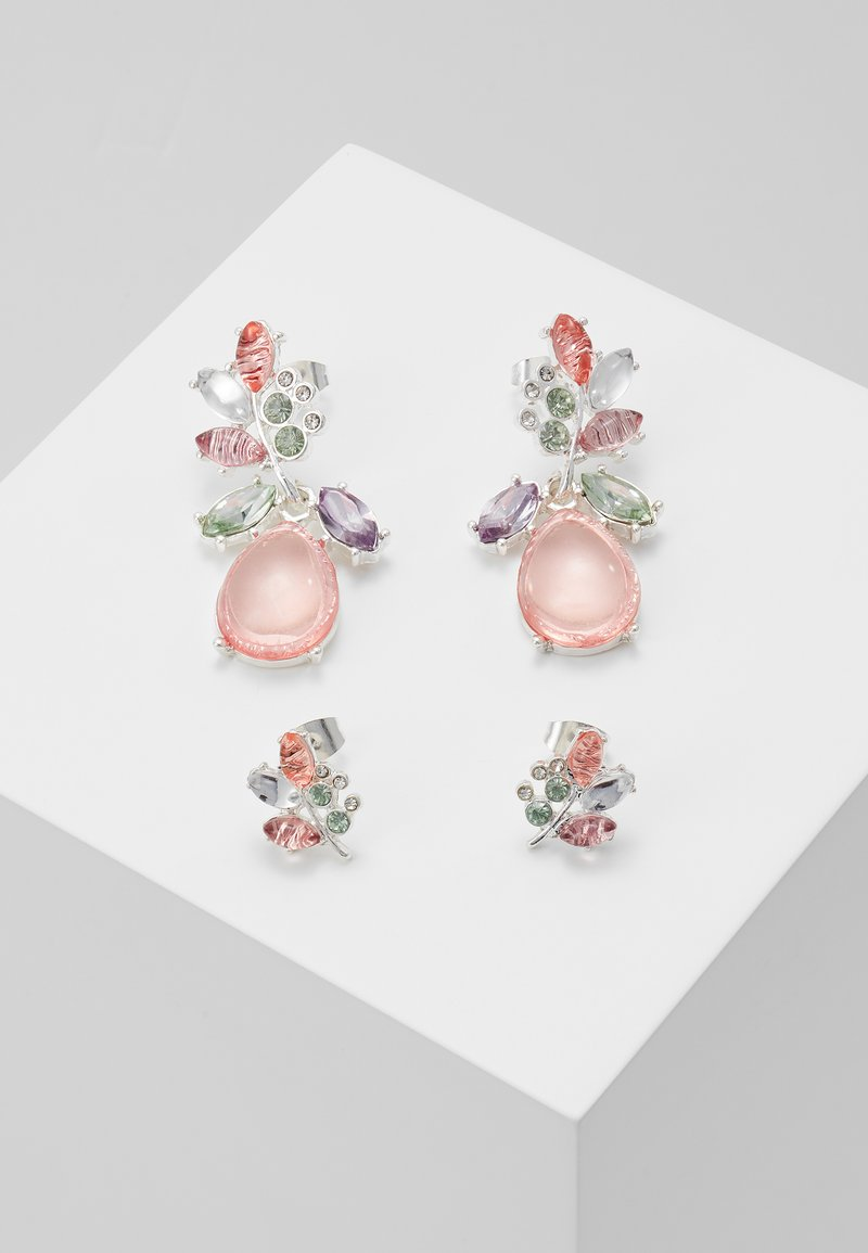 ONLY - ONLBASTA EARRING 2 PACK - Øreringe - silver/rose/pool blue