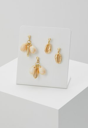 Earrings - gold-coloured/natur