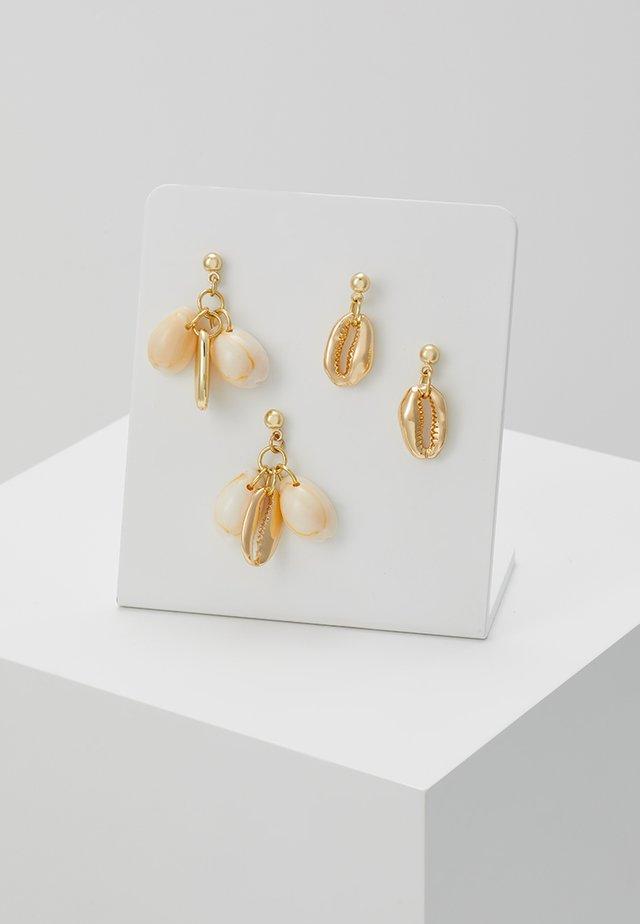 Pendientes - gold-coloured/natur