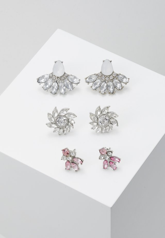 ONLAMDI EARRING 3 PACK - Pendientes - silver-coloured
