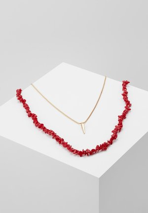 Ketting - chinese red/gold-coloured