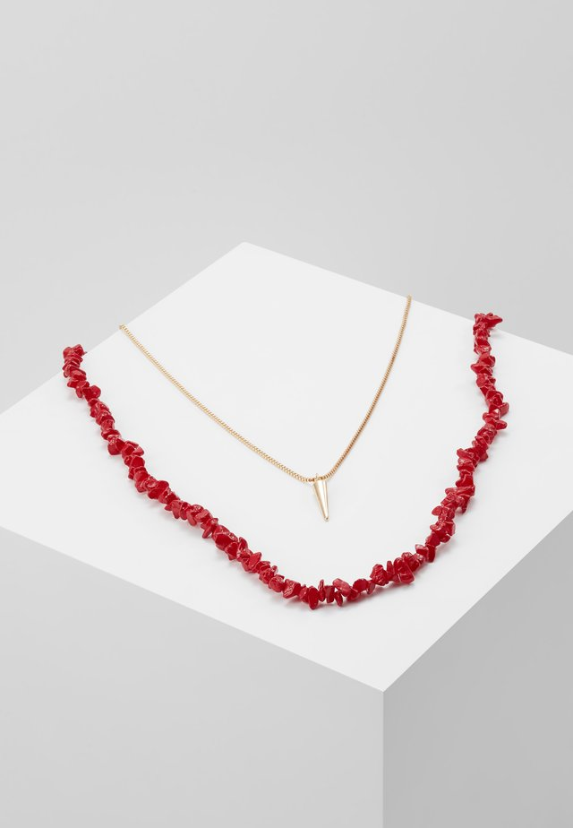 Collar - chinese red/gold-coloured