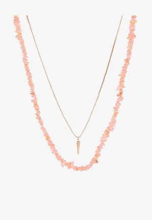 Necklace - blush/gold-coloured