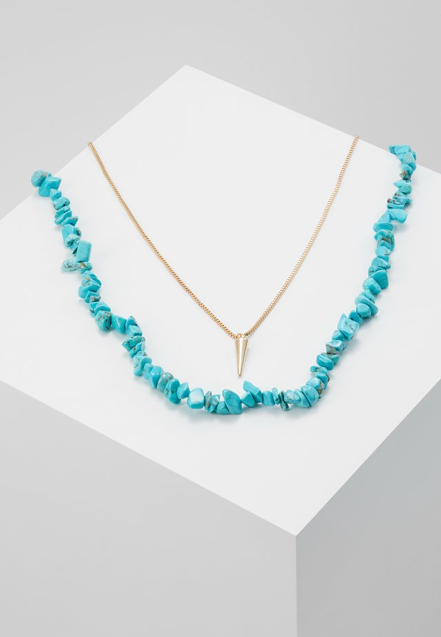 Ketting - azure blue/gold-coloured