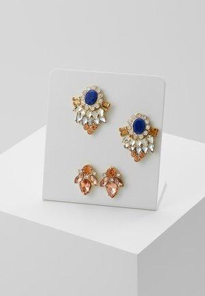 Earrings - gold coloured/blue