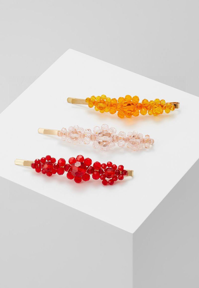 ONLY - ONLNEWEAT HAIR PIN 3 PACK - Haar-Styling-Accessoires - gold-coloured/rose-yellow-red