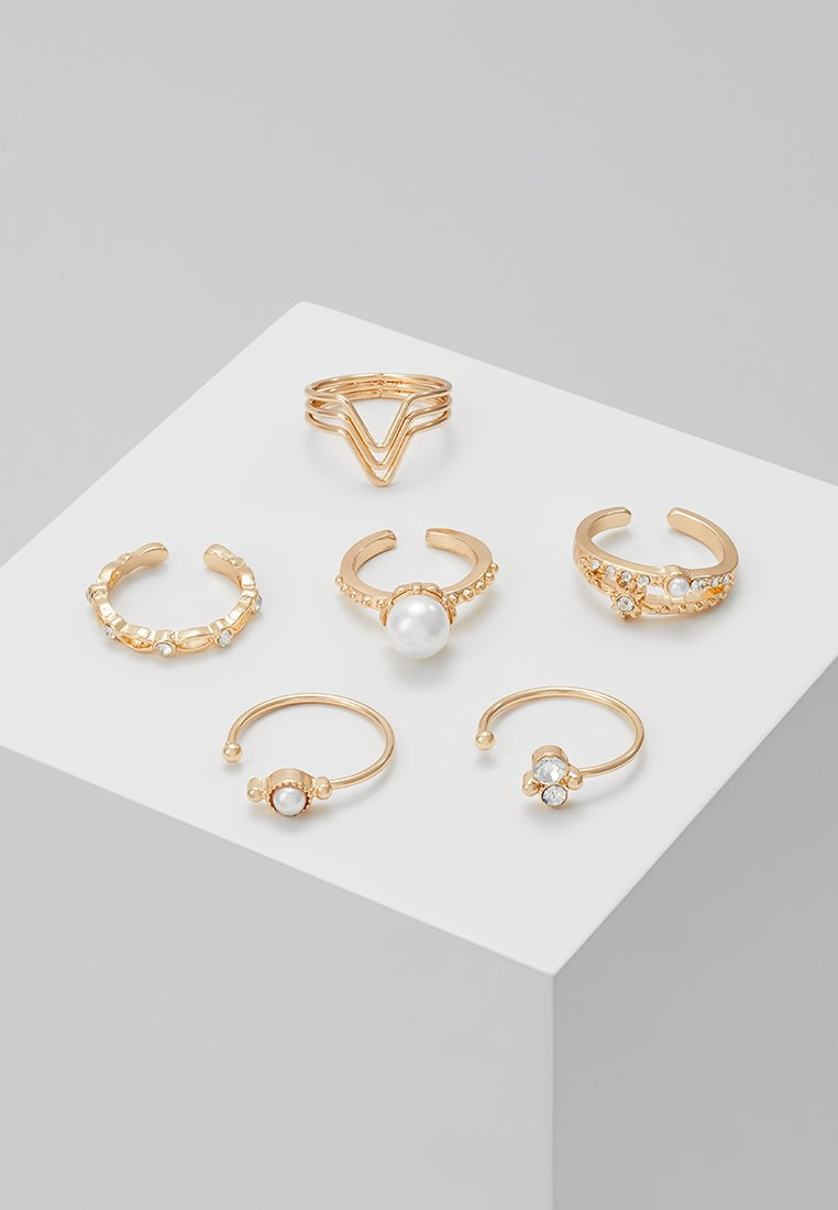 ONLY - ONLEDDIE RING 6 PACK - Ring - gold-coloured