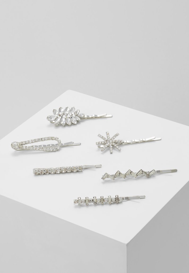 ONLY - ONLSHINE EMBELLISHED HAIR PINS 6 PACK - Hårstyling-accessories - silver-coloured
