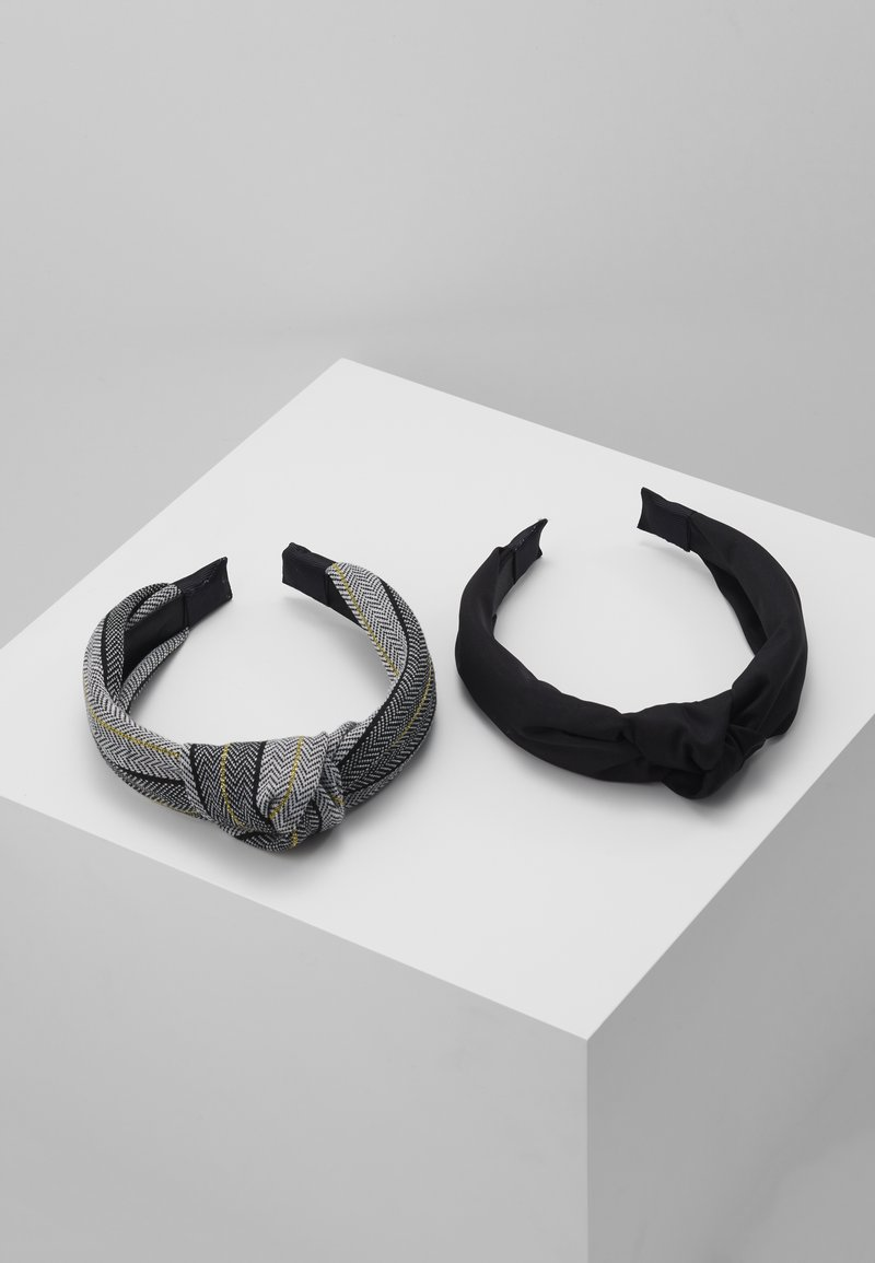 ONLY - ONLDOBBY HAIRBAND 2 PACK - Haar-Styling-Accessoires - black