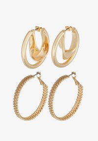 ONLY - ONLKADIA HOOPS 2 PACK  - Øreringe - gold coloured - 3