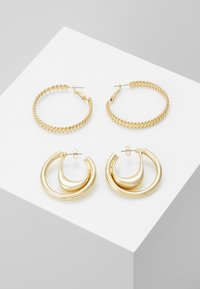 ONLY - ONLKADIA HOOPS 2 PACK  - Øreringe - gold coloured - 0