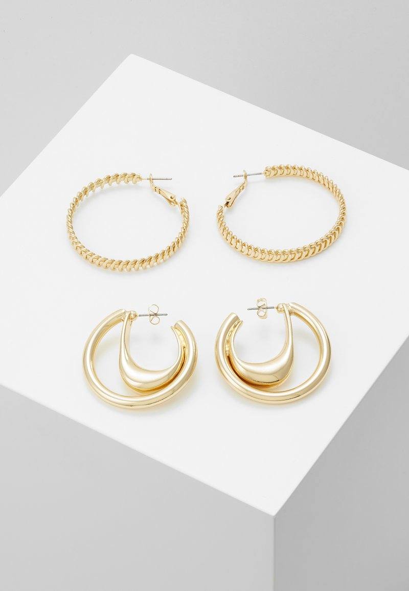 ONLY - ONLKADIA HOOPS 2 PACK  - Øreringe - gold coloured