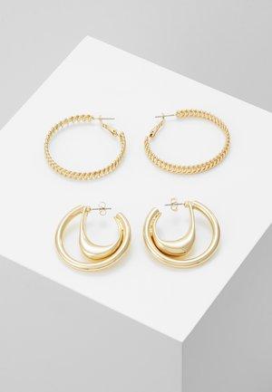 ONLKADIA HOOPS 2 PACK  - Earrings - gold coloured