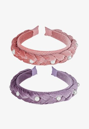 ONLADELIA BRAIDED HAIR BAND 2 PACK  - Accessoires cheveux - blush/elderberry