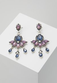 ONLY - ONLEA EARRING - Örhänge - silver-coloured/purple/blue - 0