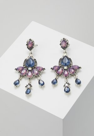 ONLEA EARRING - Oorbellen - silver-coloured/purple/blue