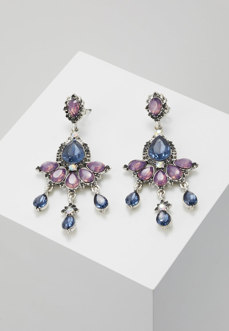 ONLY - ONLEA EARRING - Örhänge - silver-coloured/purple/blue