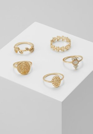 ONLZOE 5 PACK  - Ringe - gold-coloured