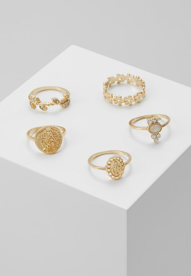ONLZOE 5 PACK  - Anillo - gold-coloured