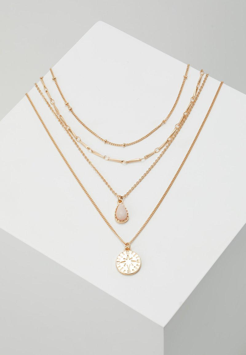 ONLY - ONLCAILEY NECKLACE 2-IN-1 - Ketting - gold-coloured/rose