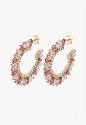 ONLSYLVI EARRING - Korvakorut - gold coloured/clear/pink/red