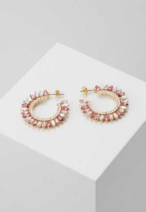 ONLSYLVI EARRING - Oorbellen - gold coloured/clear/pink/red