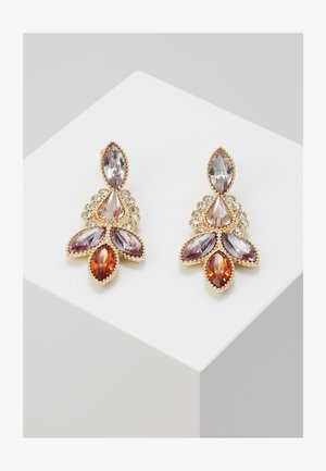 ONLKAIYA EARRING - Orecchini - gold-coloured/pink/red/clear